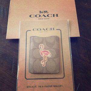 Coach flamingo phone wallet